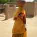 4.Local woman wearing traditional dress Matka on her hea